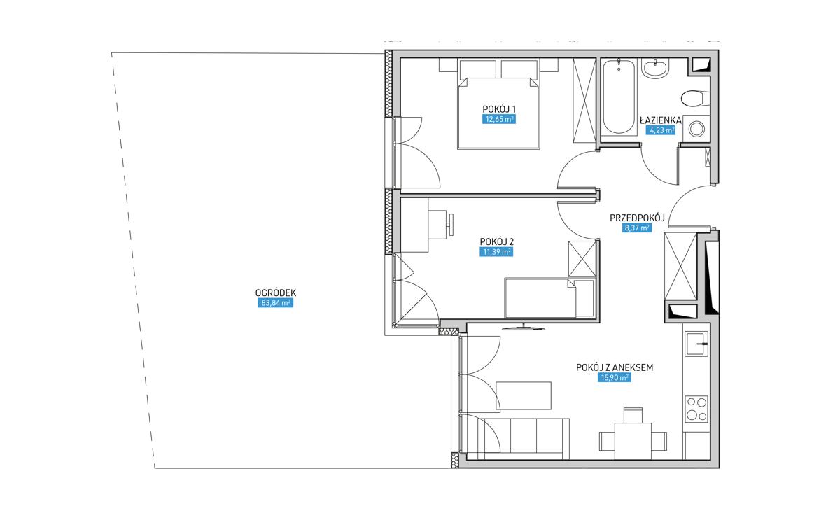 Mieszkanie 3B
