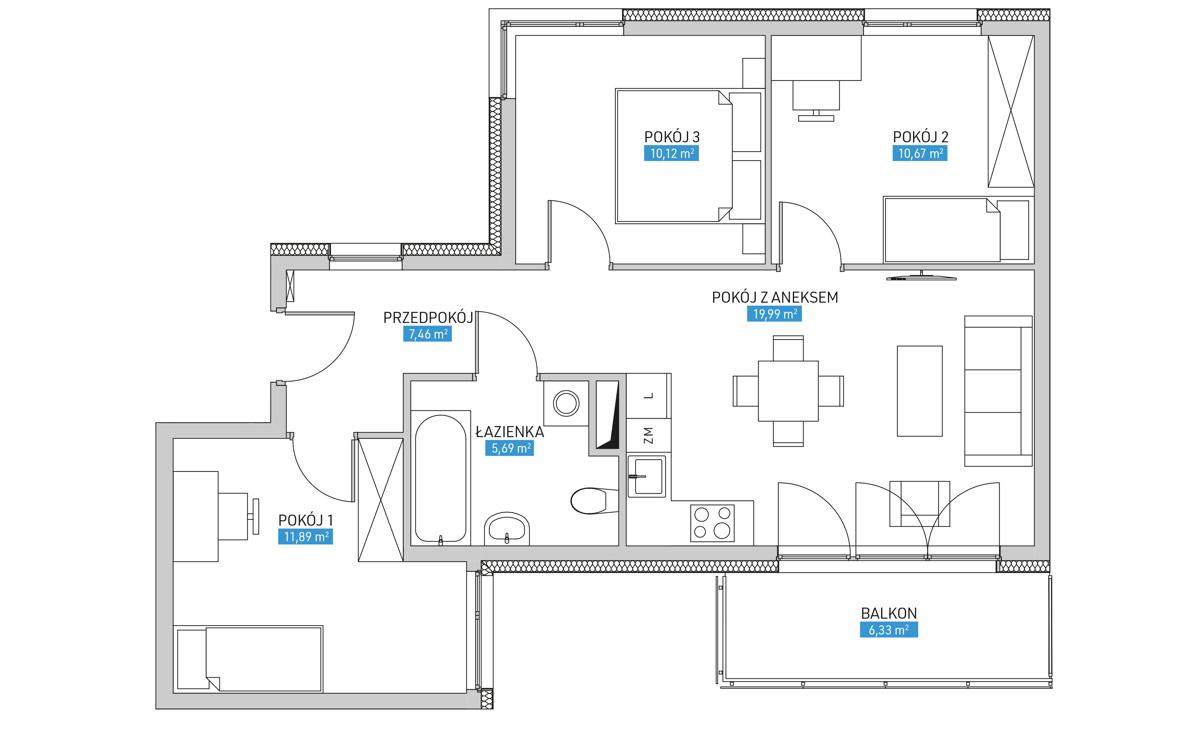 Mieszkanie 14B