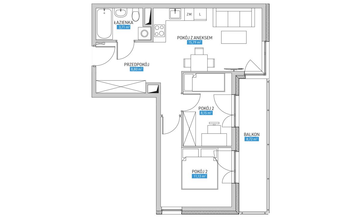 Mieszkanie 19B