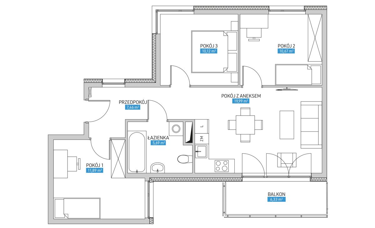 Mieszkanie 22B