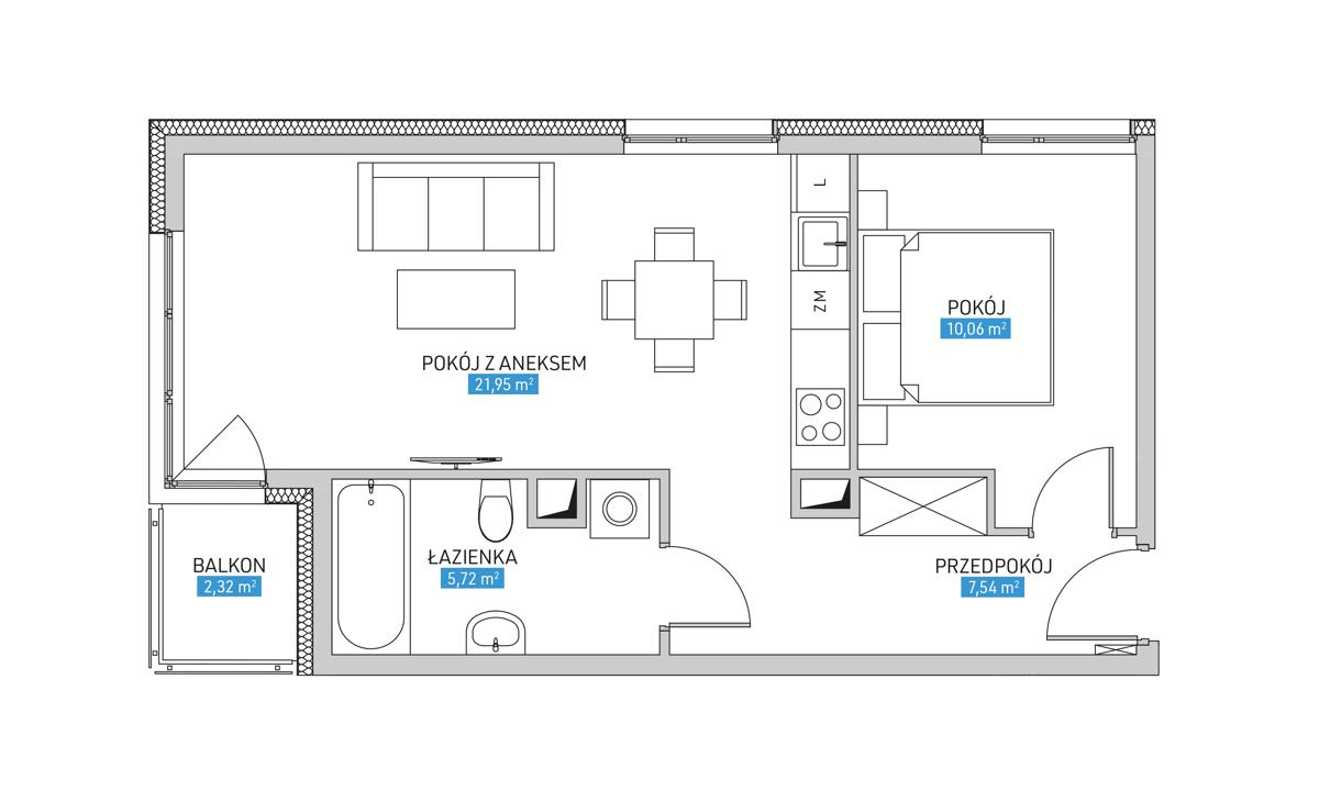 Mieszkanie 23B